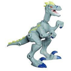 Jurassic World Hero Mashers Grey Velociraptor   Toys for Kids   Jurassic World