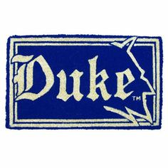 "Duke 18x30 Bleached Welcome Mat by Team Sports America. $26.24. 18"" X 30"" Coir mats; Very versatile fiber; All-natural and weather-resistant.; Each mat uses the husks of approx. 40 coconuts.; Available in a choice of NCAA® teams. Greet your guests at the front door with your favorite team underfoot. Made from extremely durable coir fiber (coconut husk), this outdoor mat is ideal for any threshold entrance into the home. 18x30 size makes a bold statement.. Save 54% Off!"