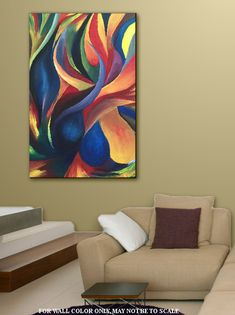 Art Wall Art Painting Home Decor Abstract Green Blue Red Abstract Canvas, Oil Painting On Canvas, Canvas Art, Painting Abstract, Modern Art, Contemporary Art, Art Mural, Home Decor Wall Art, Art Paintings