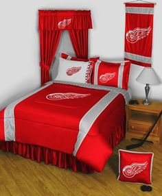 Detroit Red Wings Sidelines Bedding / Accessories Set