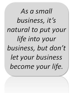 Small business quote.