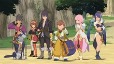 Tales of Vesperia - look at their adorable little faces. Yuri's smile is the best.