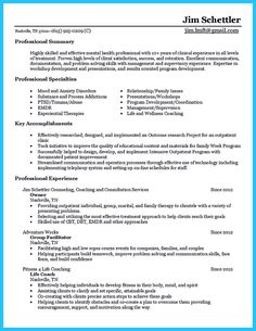 Counseling Resume For 8 Years Experience  Resume Templates  Pinterest  Sample .