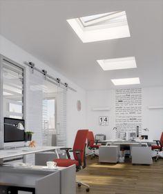 Ambienti luminosi, per chi ama la luce naturale del sole, a casa come in ufficio: la nostra #finestra Modello F è la soluzione per #tettipiatti, per sfruttare anche in autunno la #luce del giorno.