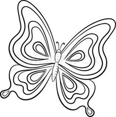 Butterfly contours stock vector Butterfly coloring page Butterfly outline Butterfly line drawing