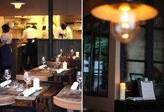rustic tables in Septime - featured on HiP Paris blog - the restaurant sounds heavenly