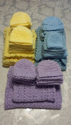 Preemie blankets and hats