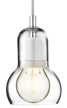 Nice for the dining table!  Bulb Pendant - Ø 11 cm - Transparent cable
