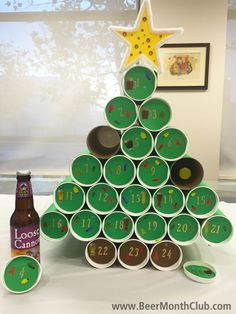 Beer Advent Calendar. #beer #diy #advent