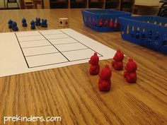 More and Less Dice Game w/ bear counters or other easy-to-find manipulatives