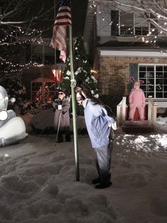 """""""A Christmas Story"""" Yard Display.  We have wanted to do this for years!"""