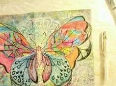 I haven't been that productive these days due to my insomnia  I found this picture of a birthday card I made in December. Thinking of drawing more #stainedglass butterflies I'll definitely be playing with my doodle pens today! #motivated #mentalhealth     #vegan #lifestyle #artist #illustration #ink #inspiration #butterfly #colour #dailysketch #picoftheday #mixedmedia #gouache #paint #practice #wip #indigochild #ratedmodernart #beautifulbizarre #abstractart #doodle #vscocam