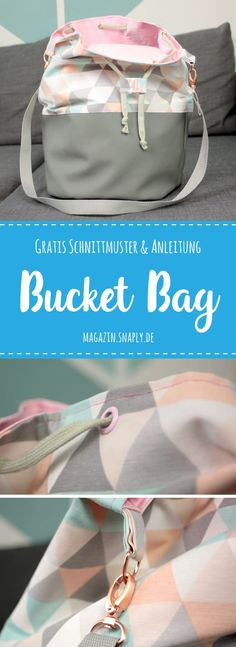 FREE Sewing Pattern + Sewing Guide: Bucket Bag The post Sew Bucket Bag – Free Pattern & Instructions appeared first on Woman Casual - DIY and crafts Sewing Patterns Free, Free Pattern, Pattern Sewing, Crochet Patterns, Purse Patterns, Sewing Hacks, Sewing Tutorials, Sewing Tips, Sewing Crafts