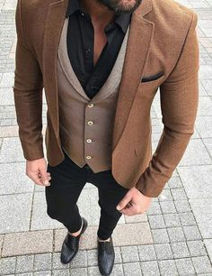 Vintage kleding mannen 34 ideas for 2019 Mens Fashion Suits, Mens Suits, Jean Miro, Designer Suits For Men, Stylish Mens Outfits, Mens Attire, Mens Clothing Styles, Clothing Ideas, Menswear