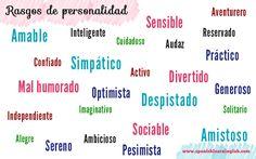 ¿Cómo describes tu personalidad? ¿Cómo eres?