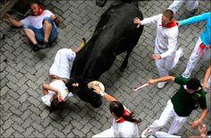 2012 Running of the Bulls Running Of The Bulls, Crazy People