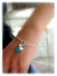 Personalized jewelry silver starfish Bracelet