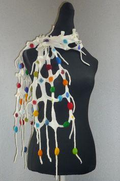 """Filzschals - Gitterschal """"Multicolor"""" - ein Designerstück von CH-FilzKunst bei DaWanda"""