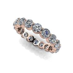 Wedding Band Forever One Colorless Moissanite Round Eternity Band 2.88 CTW