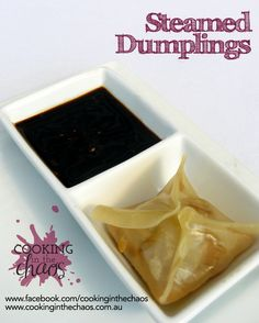 Steamed Dumplings in Wonton Wrappers - Thermomix
