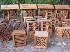 Fauna, Firewood, Canning, Diy, Bug Hotel, Nest Box, Recycled Materials, Farmhouse, Hotels