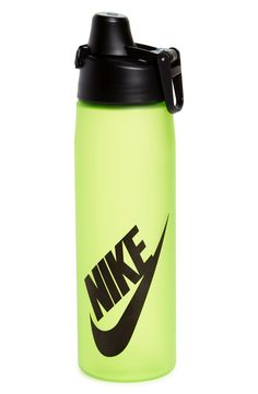 Adding a pop of neon green to the active gear with this essential water bottle.