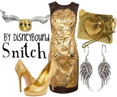 HP: Snitch inspired outfit by Disneybound at:  http://disneybound.tumblr.com/
