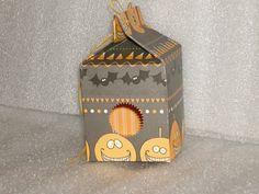 Set of 12 Halloween Favor Milk Cartons for by LadyJPaperGarden, $15.00