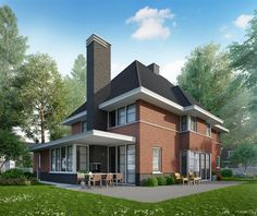 Jaren woning www.bongersarchitects.nl Layout, Architect House, Red Bricks, Simple House, My Dream Home, Modern Interior, Sweet Home, House Design, Mansions