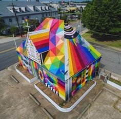 New Street Art by OKUDART found in Forth Smith Arkansas USA #art #mural…