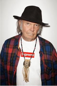 RunwayDaze: Neil Young for Supreme Clothing Ad Campaign