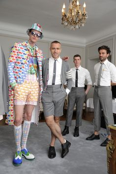 Having a whale of a time with Thom Browne.