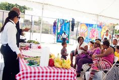 The festival offered a cooking demonstration to teach local residents some healthy recipes.