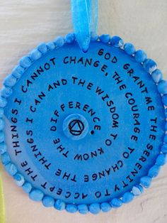 serenity prayerrecovery giftsrecoveryaa by TranscendingArt on Etsy Betty Ford, Recovering Addict, Rescue Puppies, Hip Replacement, Serenity Prayer, Relapse, Addiction Recovery, Sober