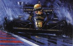 Cmanwfo 002 senna at estoril — Nicholas Watts Indy Car Racing, Indy Cars, Formula 1, F1 Lotus, Bmx Bikes, Motorcycles, Old Images, Car Drawings, Automotive Art