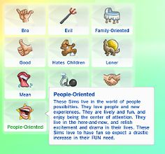 Mod The Sims - People-Oriented Trait!