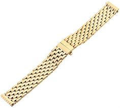 MICHELE MS16DM246710 Deco 16mm Stainless Steel Gold-Plated Watch Bracelet * Continue to the product at the image link.