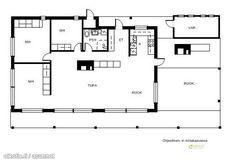 kuva Modern Bungalow, Modern Cottage, Best House Plans, Small House Plans, Small House Design, Modern House Design, Home Building Design, Building A House, Contemporary House Plans