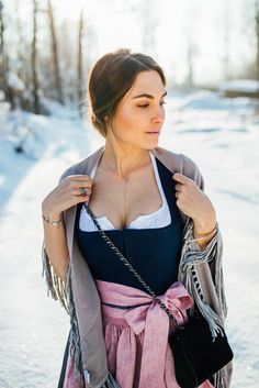 OUTFIT: The Dirndl - The most flattering dress for any woman Traditional Fashion, Traditional Dresses, Dirndl Outfit, 10 Item Wardrobe, European Girls, Flattering Dresses, Retro Dress, Mode Inspiration, Get Dressed