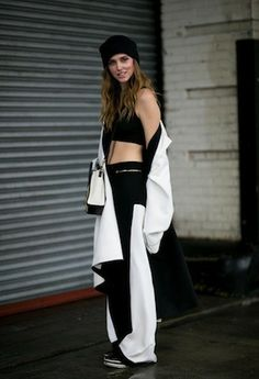 Your Daily Street Style Fix: Exposed Skin and Fashion-Forward Outwear on Day Eight of NYFW Fall 2014