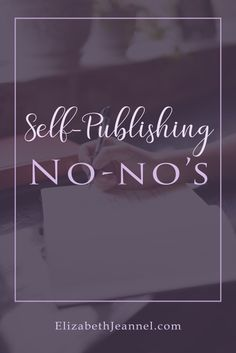 Self-Publishing No-no's. Creative Writing Tips, Book Writing Tips, Writing Ideas, Love Stories To Read, Writing Genres, Psychology Books, Romance Authors, Self Publishing, Medical Terminology