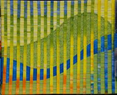 """Piece #4"" by Sue Beckman Special Exhibit - ""The river CROSSING our BORDERS"" MN Quilters Annual Show 2011"