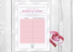 Kick off your baby shower, with a fun game of how big is Mummy's Tummy! Baby Shower Charades! | eBay!
