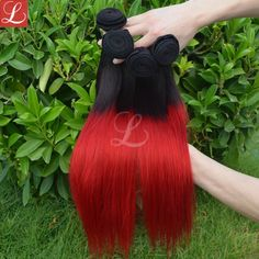 Red Hair Ombre Dyed Weave http://www.latesthair.com/