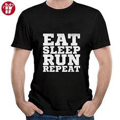 Eat Sleep Run REPEAT Short shirts for Mens XXXL Black (*Amazon Partner-Link)