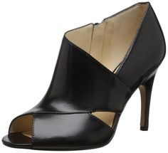Nine West Women's Sheldon Leather Dress Pump, Black, 7.5 M US. Pumps.