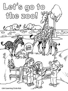 Reader Bee Characters Carlos Angela And Joy Enjoy Their Trip To The Zoo Find This Pin More On Free Printable Coloring Pages