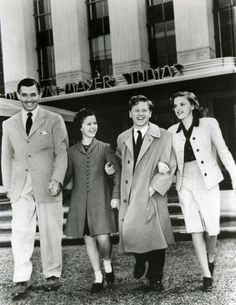 Clark Gable, Shirley Temple, Mickey Rooney, and Judy Garland
