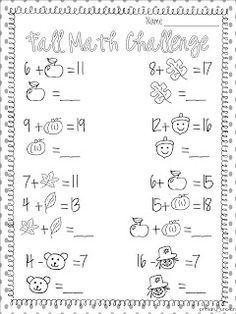 The 48 best Autumn/Fall Worksheets images on Pinterest | Preschool ...