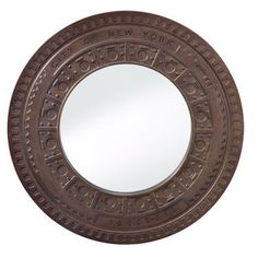Check out the huge savings on New Feiss Round Mirror Steel at LampsUSA! The best products at discount pricing. Round Wall Mirror, Wall Mounted Mirror, Floor Mirror, Round Mirrors, Ornate Mirror, Steel Wall, Mirror With Lights, Home Decor Outlet, Antiques